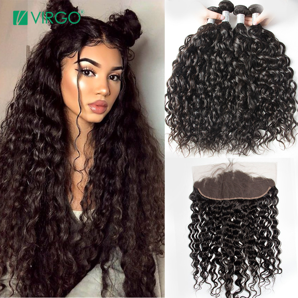 Disciplined Alipearl Hair Deep Wave Bundles With Lace Closure Human Hair Brazilian Hair Weave 3 Bundles With Closure Remy Hair Extension Human Hair Weaves
