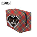 Cute 3D Animal Cat Dog Print Make Up Bag Plaid Women Cosmetic Pouch Organizer Female Toiletry Bag Lady Brand Travel Beautycase