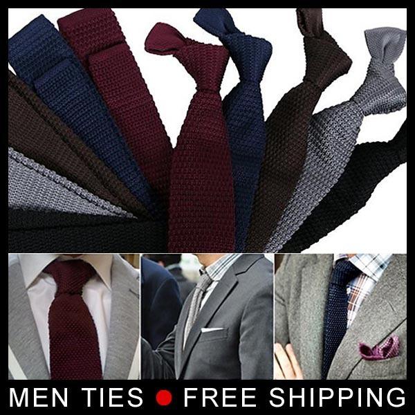 Novo estilo de Designer de Tricô Moda Estreito dos homens Laços Gravata dos homens Populares Moda 1 peça Frete grátis
