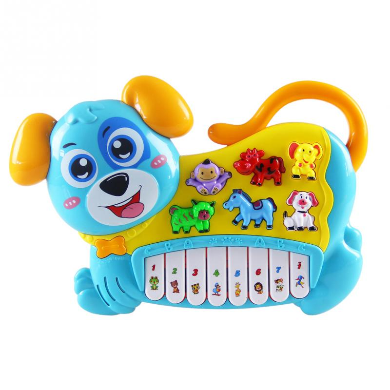 Multifunctional Electronic Organ With Animal Sound Light Songs Children Musical Toys Early Educational Toy for Baby best gift