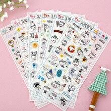 6 Pcs/Pack Diary Companion Transparent Sticker Decorative DIY Scrapbooking Album School Stationery Stickers