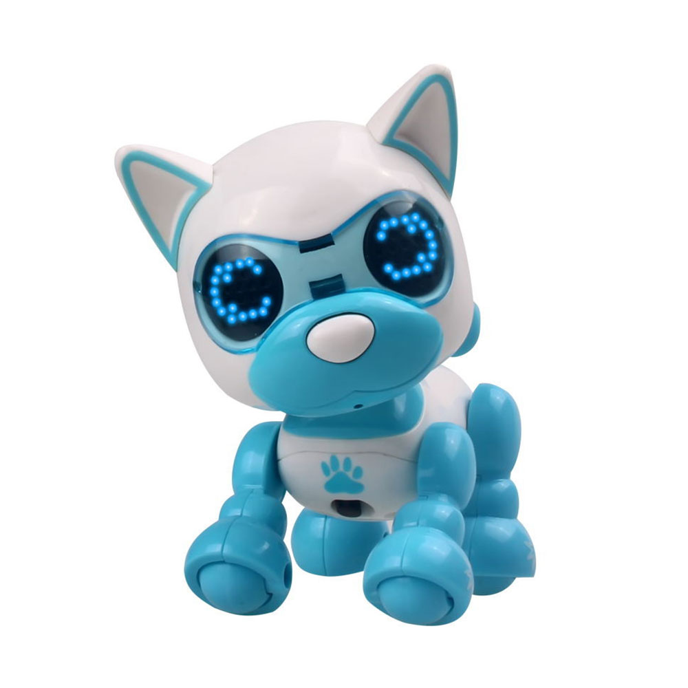 Многоцветная ABS декоративная головоломка электрическая собака музыкальная собака практическая говорящая головоломка игрушка для собаки Красивая домашняя развивающая - Цвет: blue