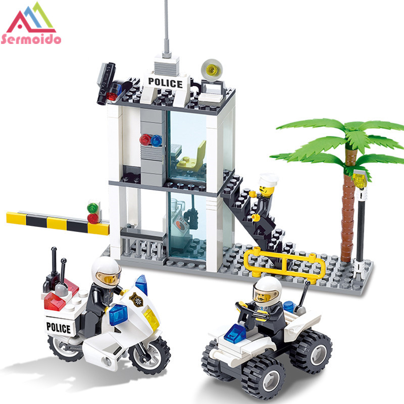 Police Station Building Blocks Compatible With Lego City Toys For Children Gift Police Command Cente Construction Bricks Toys 10551 elves ragana s magic shadow castle building blocks bricks toys for children toys compatible with lego gift kid set girls