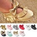 ROMIRUS Latest 12 Cores Handmade Mocassins Bebê Borboleta-nó Sapatos de Bebê Fundo Macio Prewalkers Bebê Borlas Sapatos