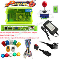 DIY Original Pandora Box 6 kit with 1300 in 1 PCB Jamma cable power supply joystick LED button for Arcade Game Machine Cabinet