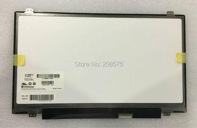 Envío libre TLN2 LP140WH2 TLN1 TLP1 TLQ1 TLS1 TLM2 LED LVDS 1366X768 14.0 pulgadas Portátil delgado Pantalla LCD 40 PI