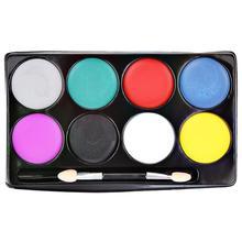 8 цветов, случайная краска для лица, тату, краска для тела, масляные краски, вечерние, для детей, взрослых, для лица, тату, краски, макияж, инструменты для Хэллоуина