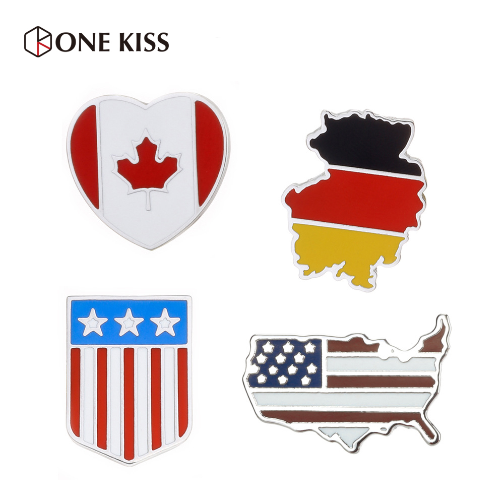 Country Flag Brooch Fashion Badge Pins for Women/Man Clothes Collar Hard Enamal Pins Badge Decorative World Travel Souvenir