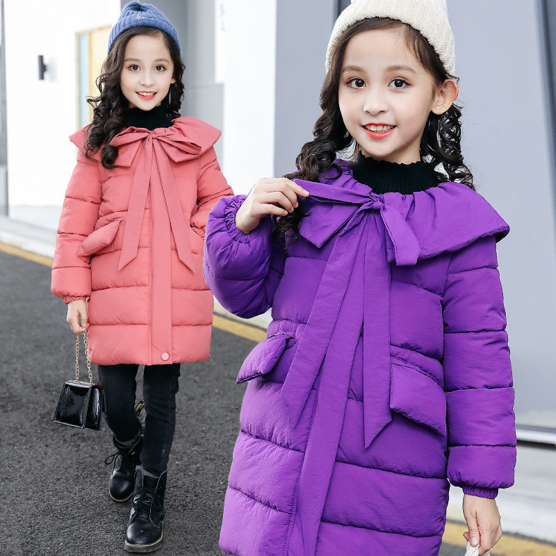 Girls Winter Coats Kids Jackets For Girl Warm Cotton-padded Clothes 2018 Fashion Children Outdoor Hooded Outerwear Kids Clothes