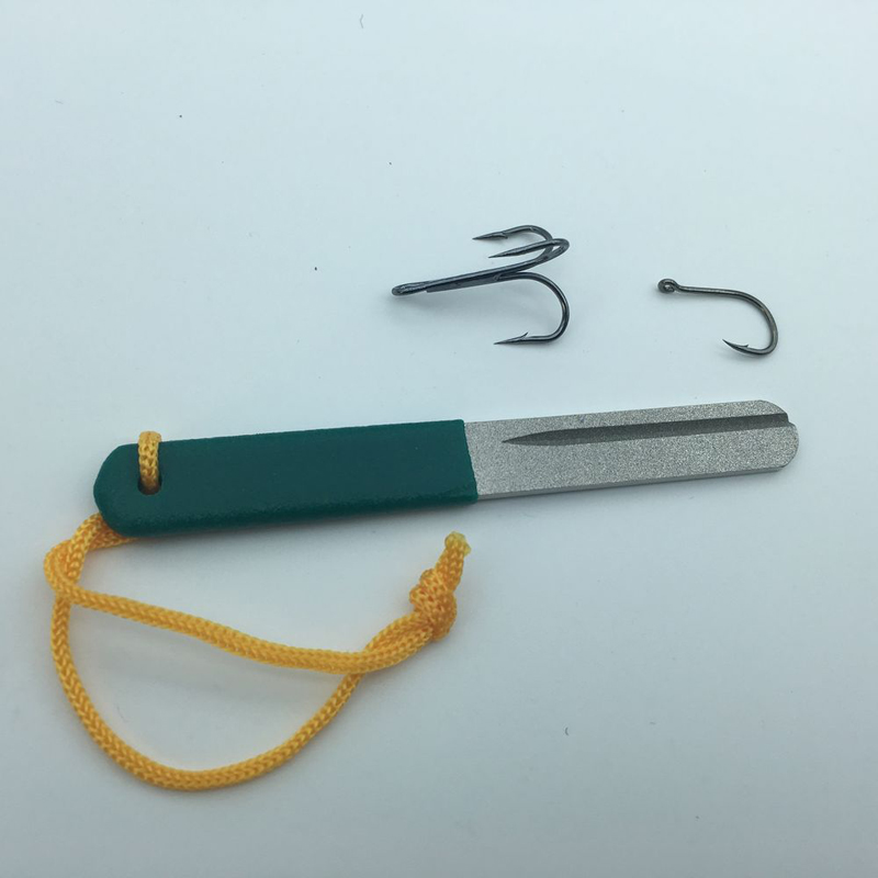 Hot Sale Diamond Fishing Hook Hone Fishook Sharpening Fishing Tackle Box Accessory Tool Easy To Use FO136