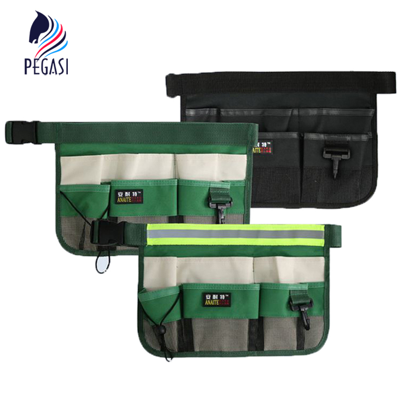 PEGASI High Quality Durable Waterproof The Oxford cloth multi-functional clean Waist Toolkit Garden Tools Bag black waterproof oxford cloth thicken oxford multi funtional hardware toolkit shoulder strap tool bag backpack