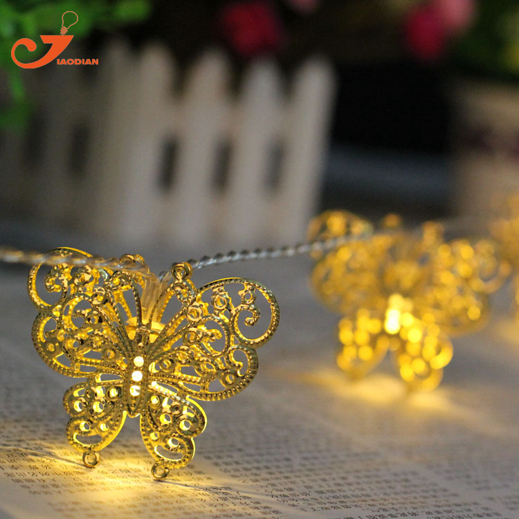 10LED metal butterfly fairy lights tent lighting room house string lighting party wedding summer lamp 3V AA battery box cheap