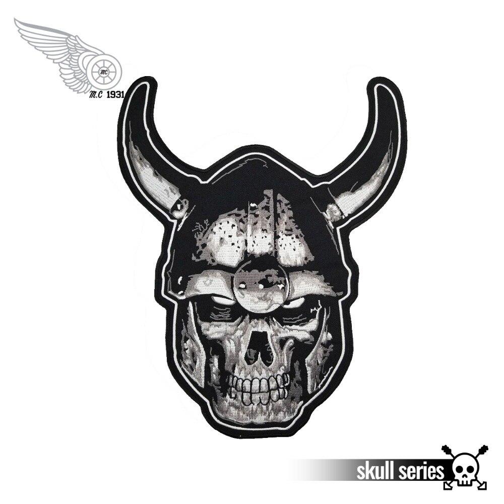 Original Ride Free Biker Iron On Transfer Winged Skull Motorcycle