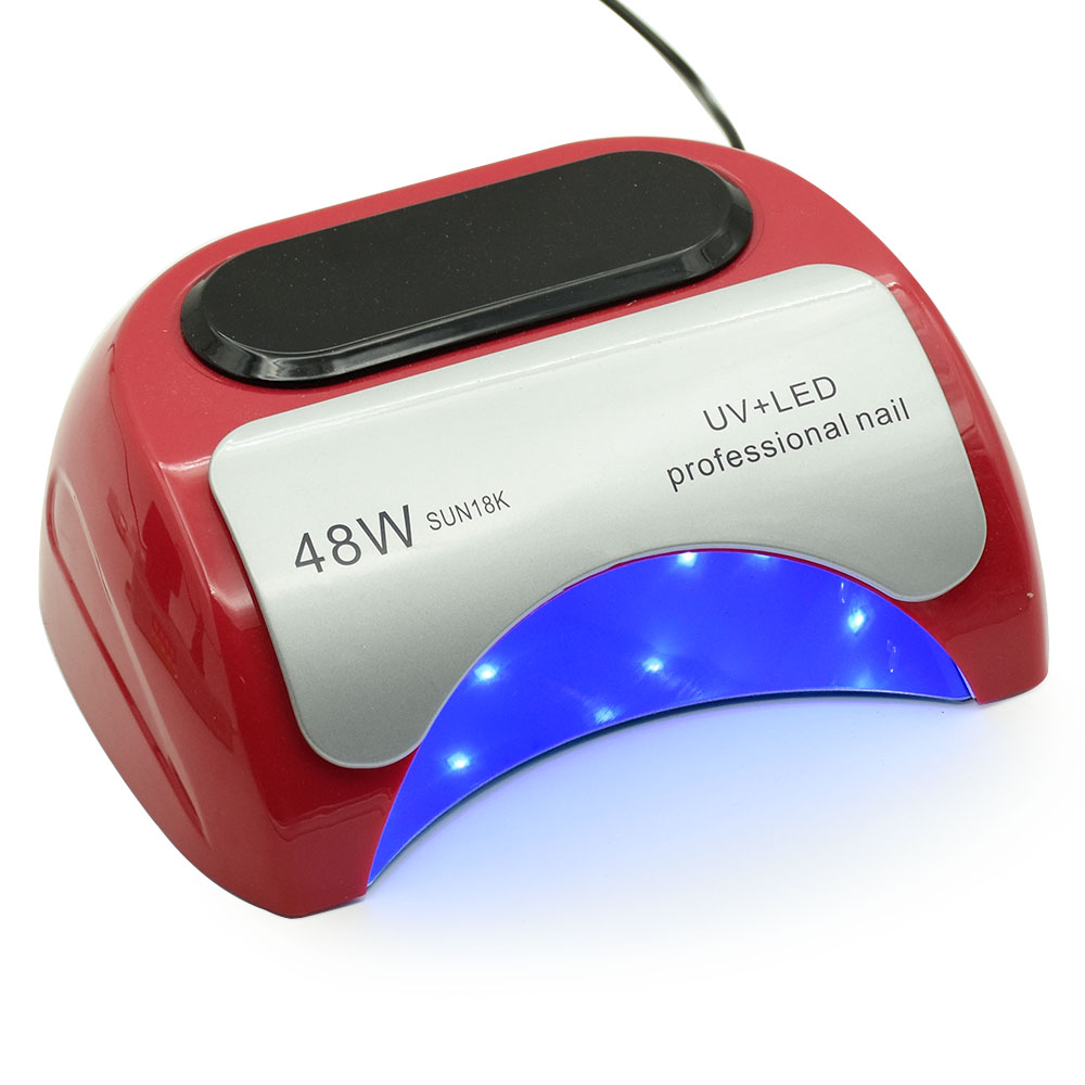 48W Dual UV LED Nail Lamp Nail Dryer Gel Polish Curing Light with Bottom 5s/30s/60s Timer LCD display manicure nail art tools