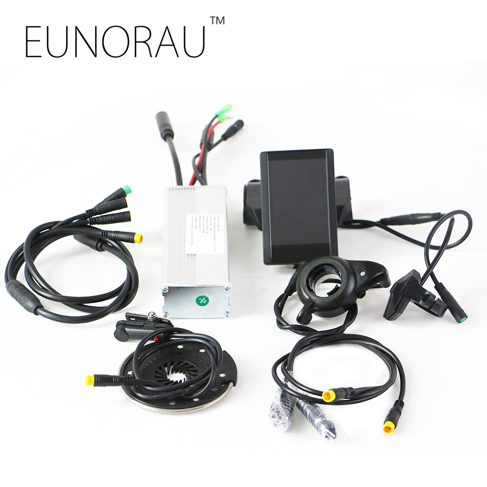 E bike conversion kits 48V 1000W hub motor controller spare parts sin-wave controller system with 850C color LCD Display