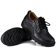 Non-slip heavy-bottomed leather shoes men's casual wear big shoes tooling outdoor men genuine leather Oxford flats shoes