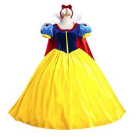 Halloween Cosplay Costume Adult White Snow Princess Dress Stage Performance Cosplay Dress Girl Festival Dress