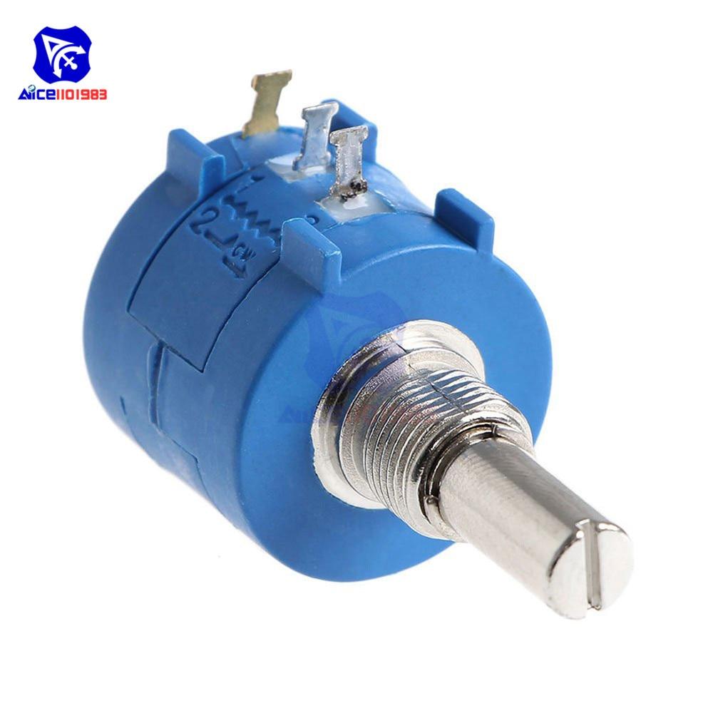 5PCS 3590S-2-502L 5K Ohm Rotary Wirewound Precision Potentiometer Pot 10 Turn