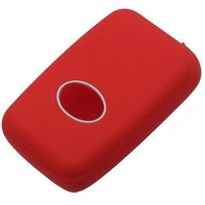 Image 4 - Jingyuqin מרחוק סיליקון מפתח Fob מקרה כיסוי מעטפת מחזיק עבור טויוטה RAV4 לנד קרוזר קאמרי הנצח פראדו פריוס 2 כפתורים