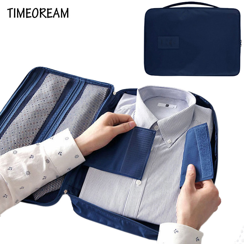 Men s Nylon Luggage Travel Bags For Shirt Lightweight Packing Organizer Garment Packing Cubes Luggage Suitcase