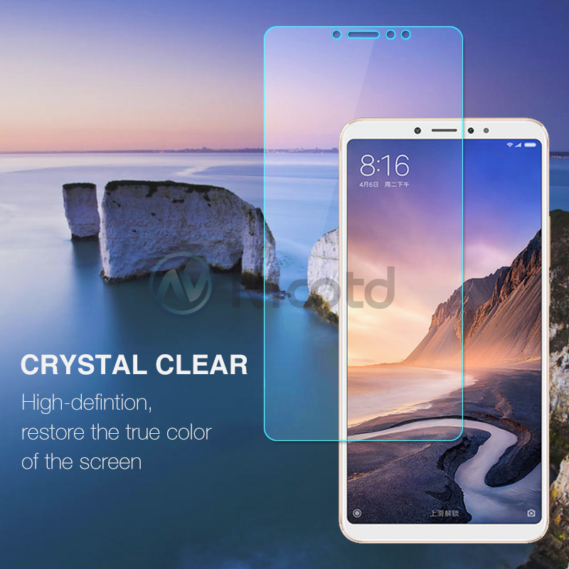 Image 2 - Nicotd Tempered Glass For Xiaomi Mi MAX 3 Screen Protector 9H 2.5D Phone On Protective Glass For Xiaomi Mi MAX 2 1 mimax film-in Phone Screen Protectors from Cellphones & Telecommunications