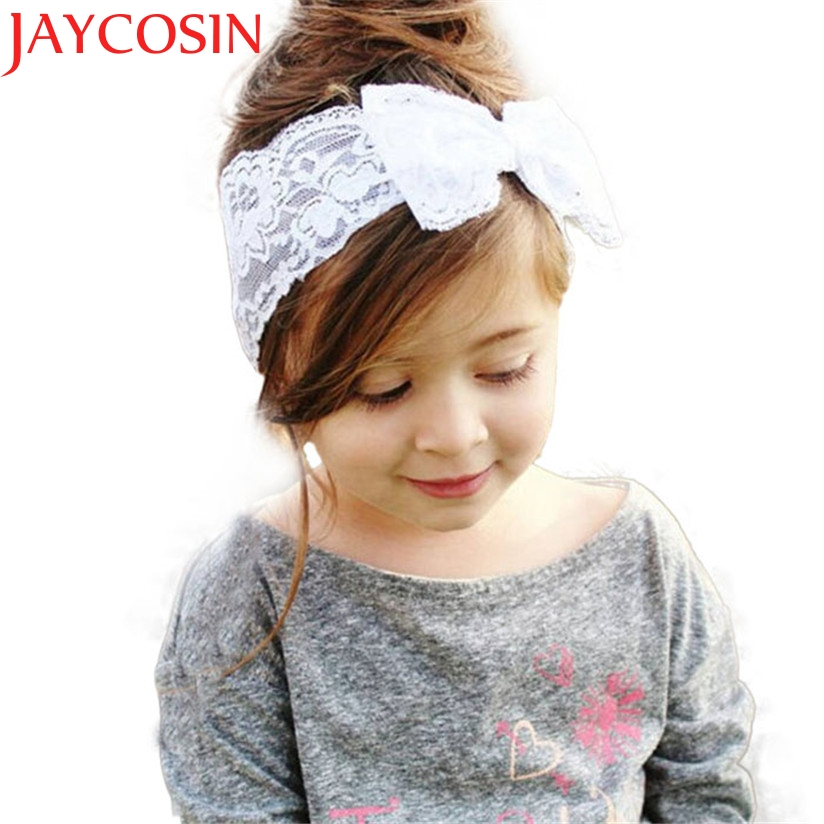 Girls Lace Big Bow Hair Band Girl Head Wrap Band accessories Girl headband cute hair band newborn floral headband WJul26 free shipping and hand customize new style20pcs blessing good girl modern style headband accessories hyacinth garland hair bow