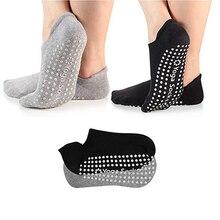 Женские носки для йоги, профессиональные нескользящие спортивные носки, впитывающие пот дышащие носки для пилатеса, спортивные хлопковые носки для спортзала, фитнеса