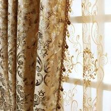 Шторы для спальни европейский стиль занавески гостиной затемненная