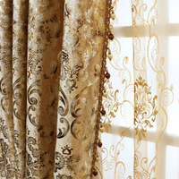 Bedroom European Curtains For The Living Room Window Shading Bronzing Cloth Of Dining Key 2 Luxury