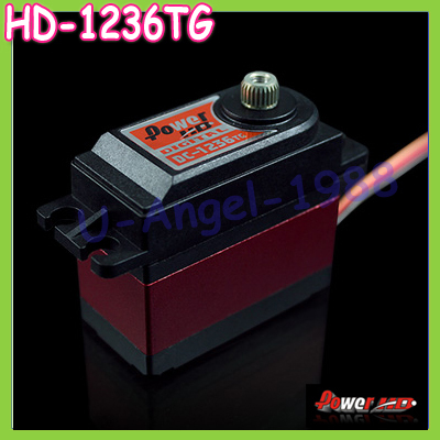 100% orginal Power HD 20KG Digital Servo DC-1236TG with 25T Metal Gears Double Bearings for Trex 600/700 Helicopter RC Car mabaiwan black genuine leather men shoes dress wedding male brogue shoes men lace up oxfords prom slipper business formal flats