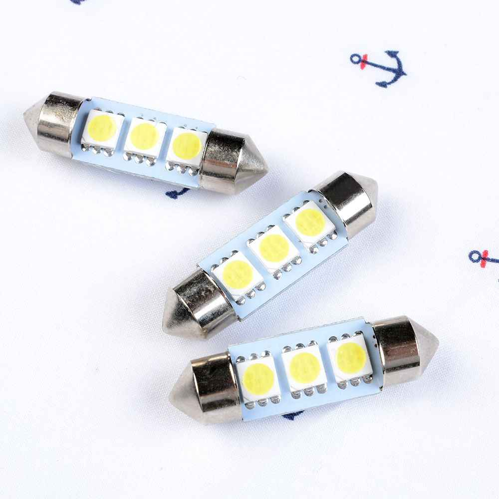 detail feedback questions about 1pc 3 smd led festoon dome car light1pc 3 smd led festoon dome car light bulb white 36mm 3 led 5050 smd