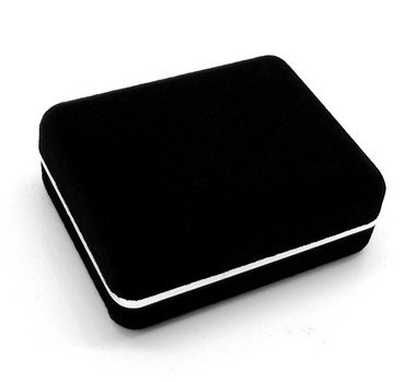Promotion! black flocking small Cufflinks Box 12pcs/lot 7.6*5.8*3cm size plastic material great gift boxes for men free shipping