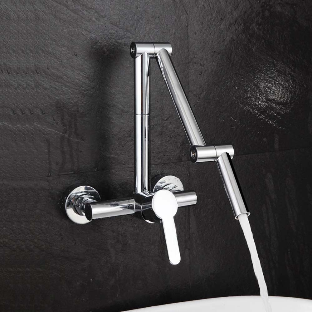 Cold And Hot Water Kitchen Sink Faucet Full Copper Wash Basin Faucet ...