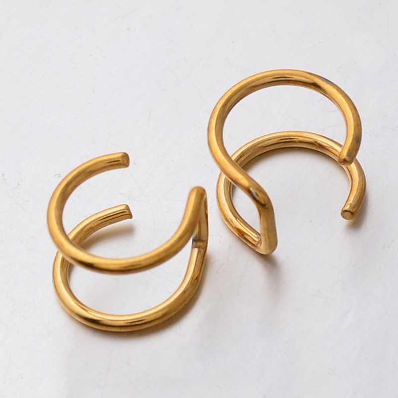 Европейская мода Ретро стиль полые u-образный зажим для на Хрящ уха серьги Невидимые не надо прокалывать уши зажим для ушей для молодых девушек