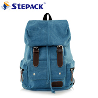 2016 Vintage Canvas Leather Backpack Men S Backpacks School Bags Hiking Backapck Outdoor Rucksack Mochila 5