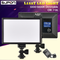 SUPON L122T 3300K 5600K Camera LED Light Ultra thin LCD Bi Color Studio Video Light Lamp Panel aro de luz led para maquillaje
