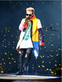 Free shipping Bigbang gd one of a kind colorant match leather should aid the clothing men stage costumes Coat / S-XL