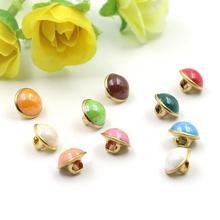 80 шт. 10 мм микс цветов медный хвостовик носы пуговицы для шитья одежды женские рубашки пуговицы круглые Глазные яблоки декоративные пряжки