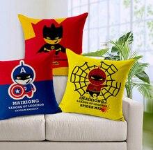 Spiderman pillow cover,Avengers superhero spiderman batman Captain America throw pillow cover pillowcase Wholesale