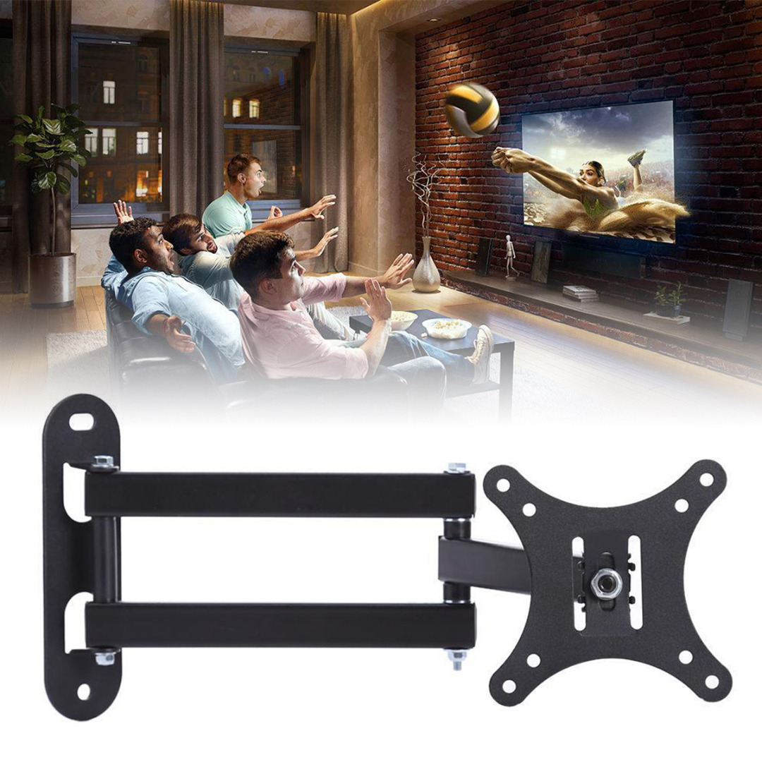 New Arrival 1pc Full Motion TV Wall Mount Swivel Bracket Supports 10-32Inch LED LCD Flat Screen TV