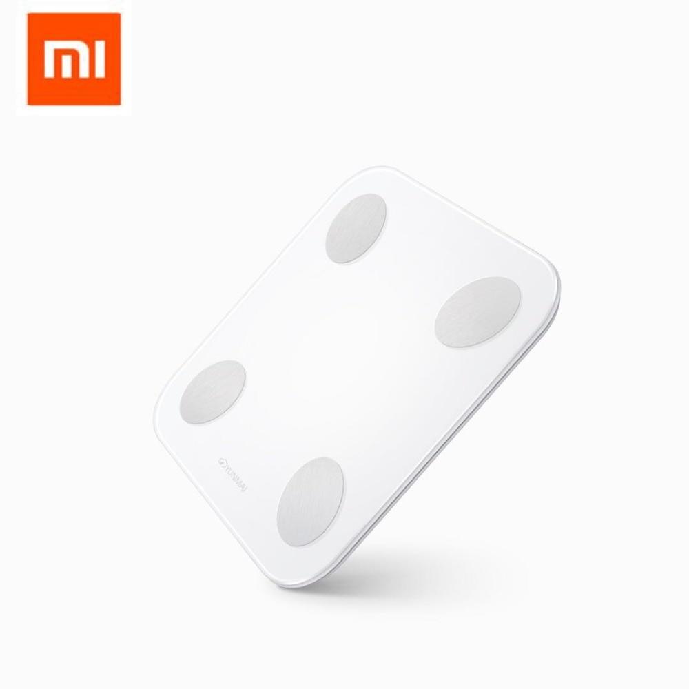 Original Xiaomi YUNMAI Mini 2 Balance Smart Body Fat peso balanza inglés APP Control pantalla LED oculta