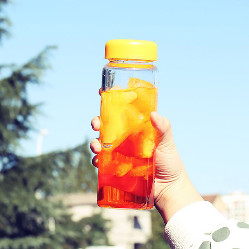 500ML Fruit Lemon Juice Drinking Bottle Infuser Clear Plastic Health Milk Water Bottle For Summer Outdoor Sport Bottle Drinkware
