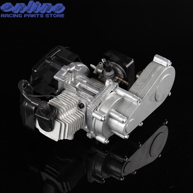 100% חדש 47cc 49cc מנוע עם תיבת הילוכים של מיני לכלוך אופני כביש לילדים מנוע