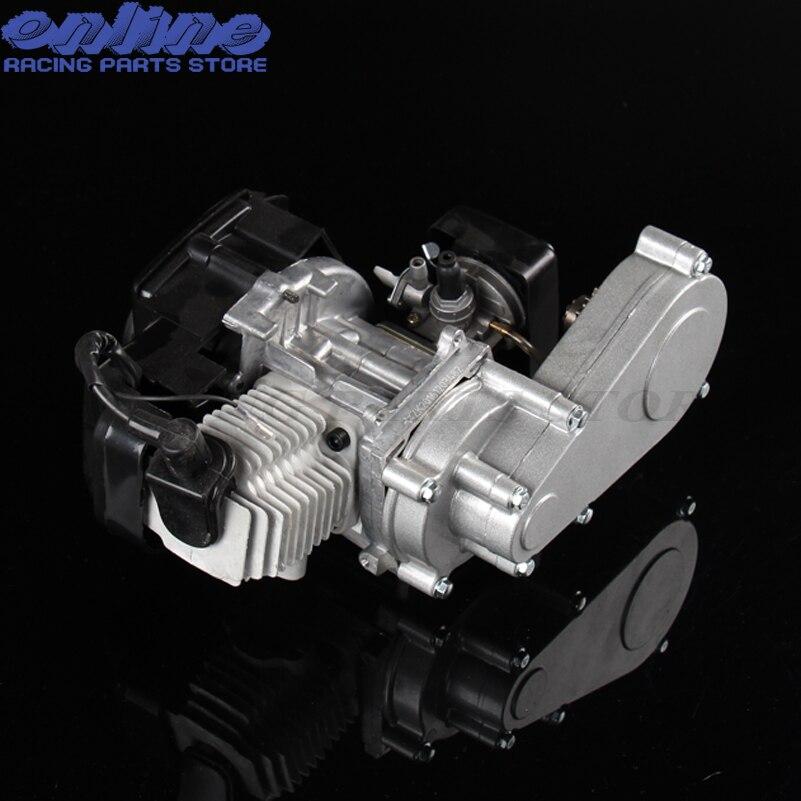 100% new 47cc 49cc engine with gearbox of mini dirt bike off road bike for kids motor mini carb carburetor w air filter for 47cc 49cc mini moto atv dirt pocket bike
