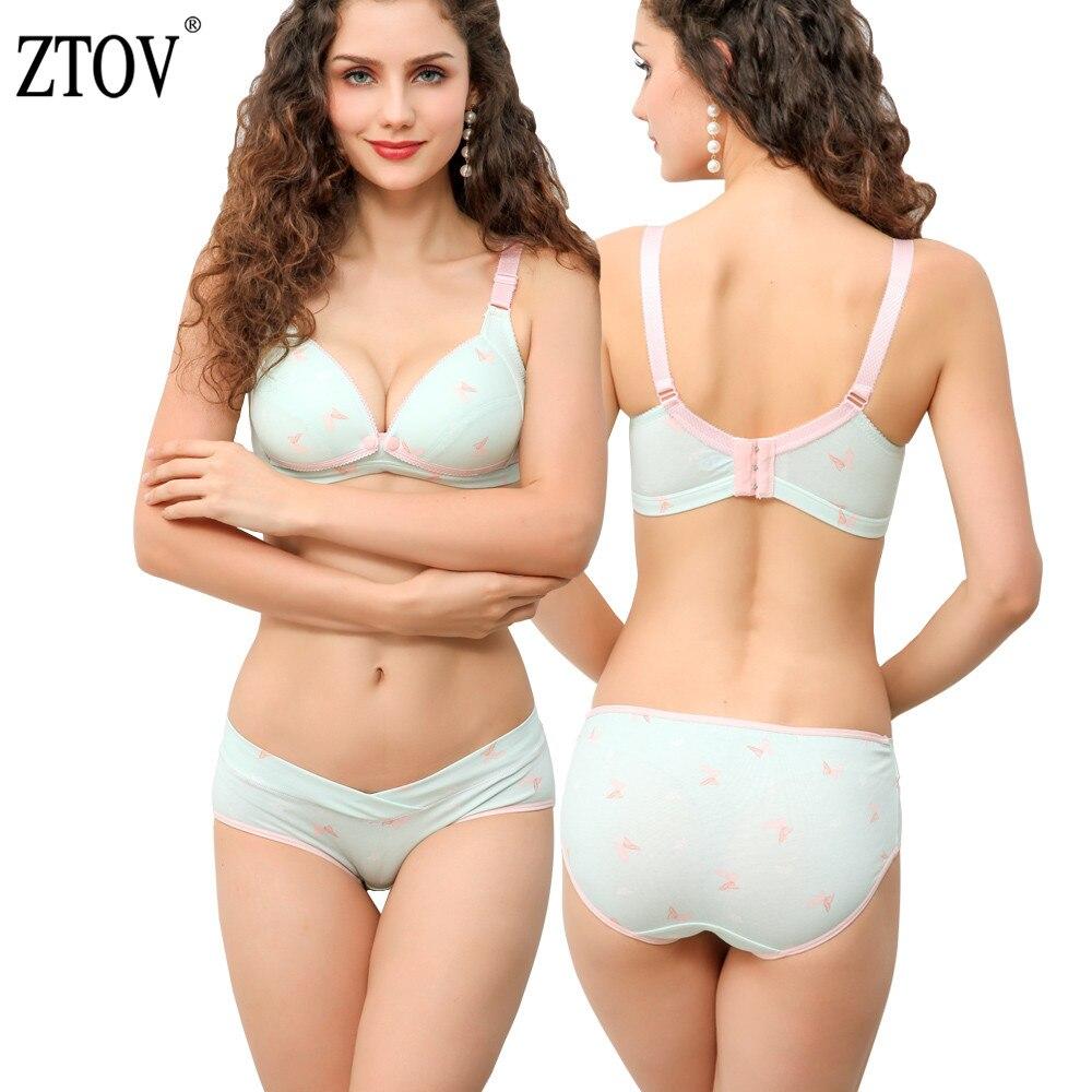 ZTOV Cotton Maternity bra+panties set nursing bra for pregnant women Pregnancy Breastfeeding Nursing Bra underwear Clothing