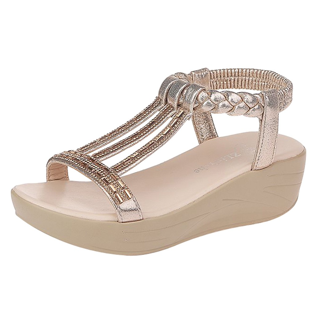 SAGACE Women Summer Fashion Rhinestone Wedges Sandals Platform Romen Peep Toe Sandals Sexy High Quality Outside Ladies ShoesSAGACE Women Summer Fashion Rhinestone Wedges Sandals Platform Romen Peep Toe Sandals Sexy High Quality Outside Ladies Shoes