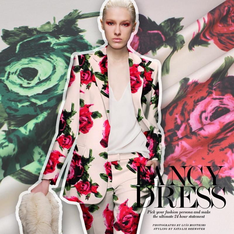 Imprimé au début du printemps 2016 haute couture tissu frais propre tissu en gros de haute qualité tissu