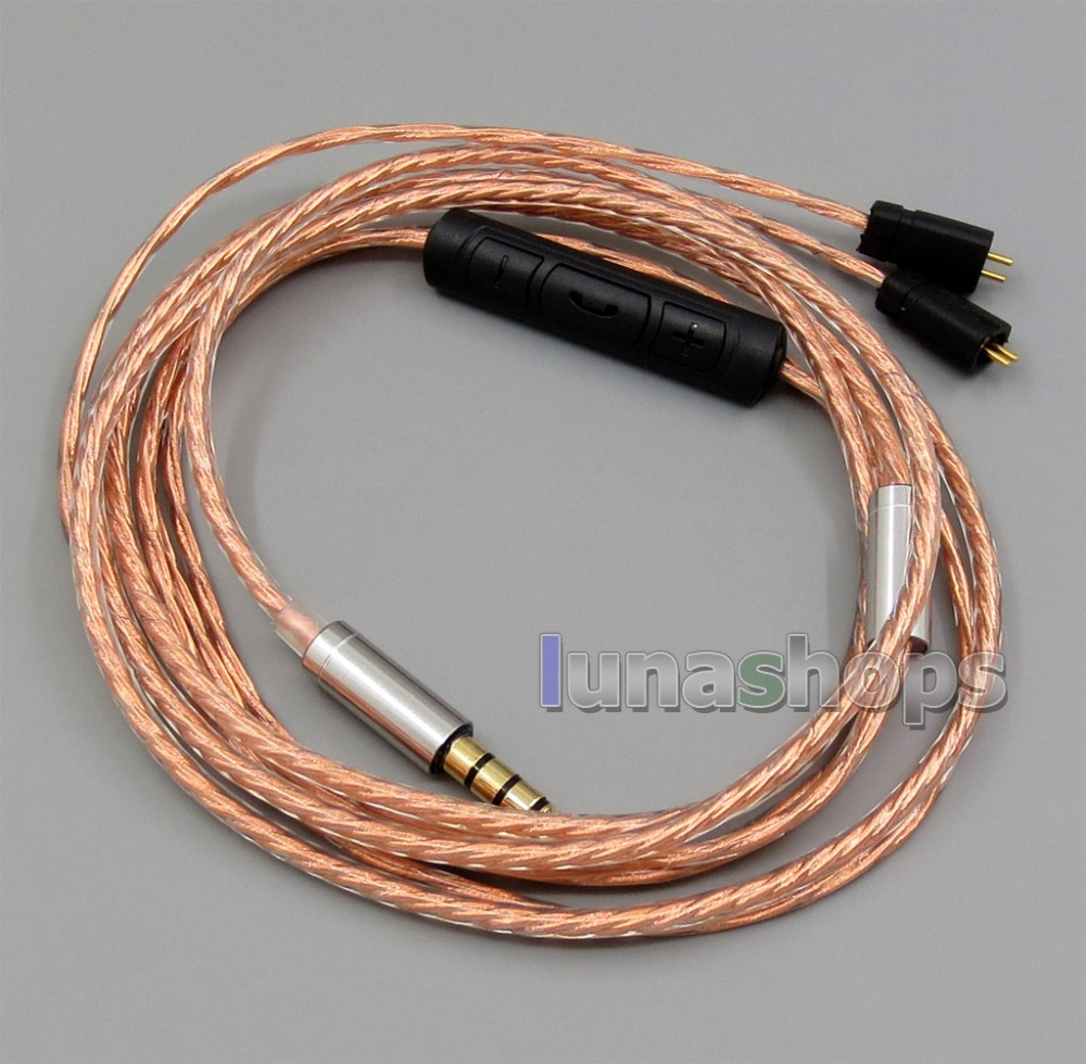 With Mic Remote Shielding Earphone Cable For Ultimate Ears UE TF10 SF3 SF5 5EB 5pro TripleFi 15vm TF15 LN005545