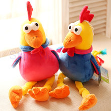 45cm New style colorful Big Cocks Plush toys Chicken cloth doll 2016 mascot Chinese zodiac stuffed plush birthday toys kids baby