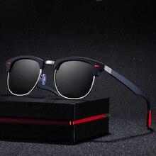 30e3709553 Moda Semi montura Gafas De sol polarizadas De las mujeres De los hombres,  diseñador De marca, Marco medio De Gafas De sol cuadra.